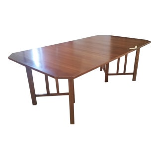 Mid-Century Modern Wood Dining Room Table