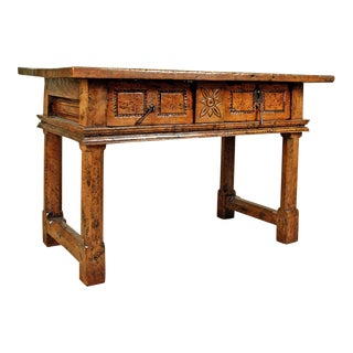 Spanish Baroque Period Walnut Table