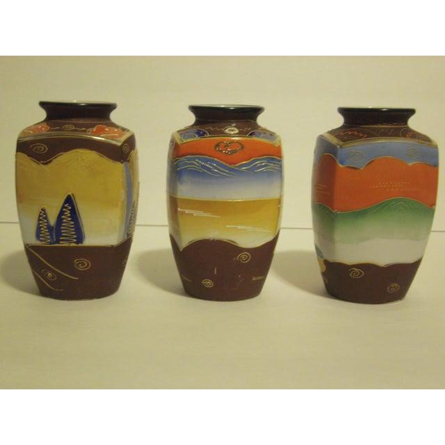 Vintage Japanese Satsuma Vases - Set of 3 - Image 7 of 10