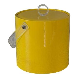 Retro Vinyl Yellow Ice Bucket