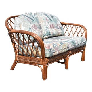 Vintage Bamboo Love Seat