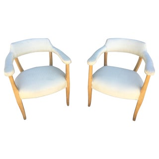 Mid-Century Sculptural Armchairs - A Pair