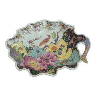 Mottahedeh Tobacco Leaf Style Porcelain Dish