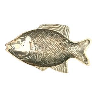 Vintage Brass Fish Dish