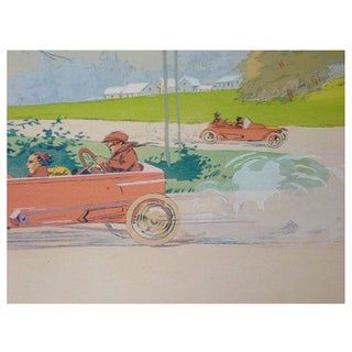 1913 French Art Deco Car Poster, Gamy