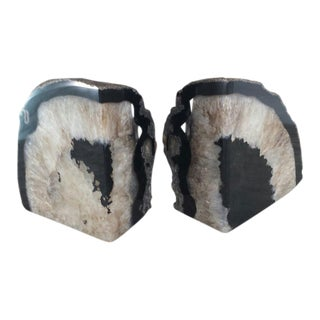 Geode Quartz Bookends - a Pair
