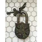 Image of Tibetan Ganesha on Lotus Bronze Mystery Lock