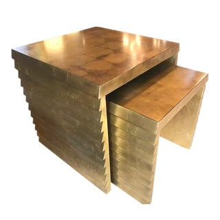 Bernhardt Gold Leaf Nesting Tables - A Pair