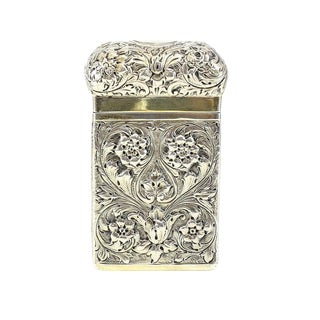 1894 Frederick Bradford McCrea London Sterling Silver Lidded Card Case