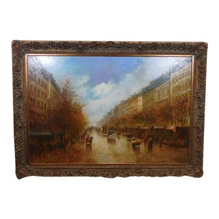 Paris Street Scene Impressionist Oil Painting