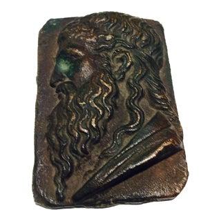 Antique Classical Cabinet Bronze Profile Portrait