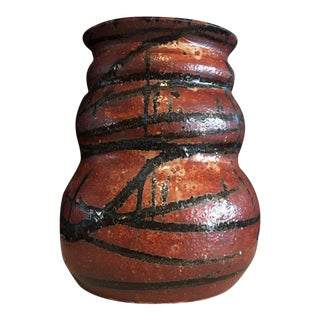 Stunning Signed Studio Glazed Pottery Vase