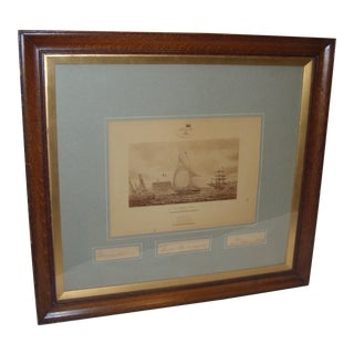 Framed Photo of The Terrible Fiona Yacht, 1899