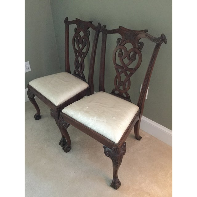 Maitland-Smith Mahogany Side or Accent Chairs- A Pair - Image 2 of 7