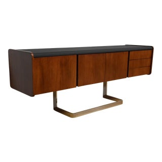 Ste-Marie Rosewood & Chrome Credenza