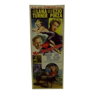 "Vintage Movie Poster ""Mr. Imperium"" 1951"