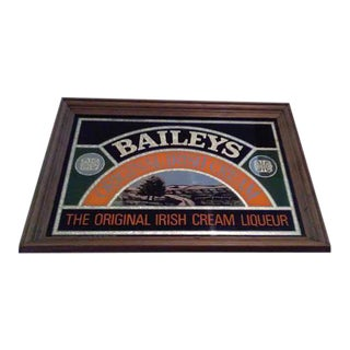 Vintage Baileys Irish Creme Mirror Sign