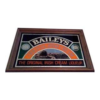 Vintage Baileys Irish Creme Mirror Sign