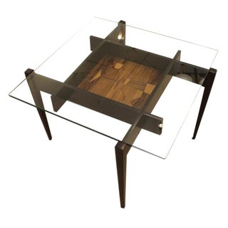 Square Coffee or Side Table with Center Etching