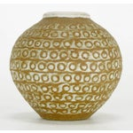Image of Relief Patterned Earthen Pottery Vase by Tomiya Matsuda