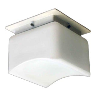 Lumenform White Opaline Semi-Flush Light