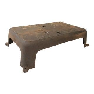 Vintage Industrial Cast Iron Platform Base