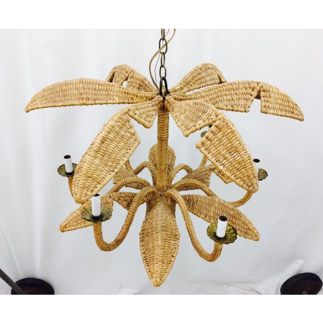 Mario Lopez Torres Palm Leaf Chandelier - Image 3 of 11