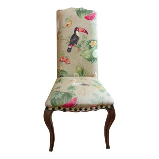 Custom Exotic Bird Accent Chair