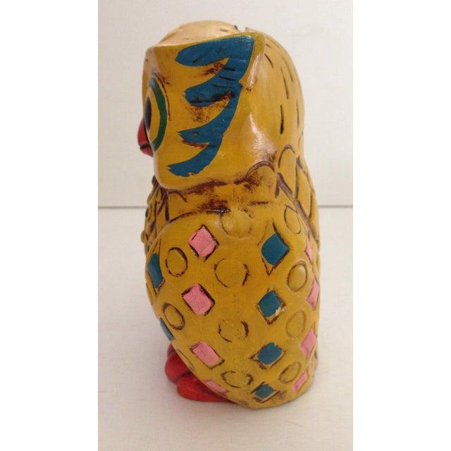 1960s Folk-Style Owl Bank - Image 3 of 8