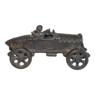 Vintage Cast Iron Racecar