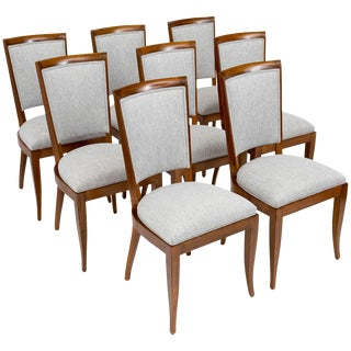 Art Deco Period Set of Eight Dining Chairs by Dominique