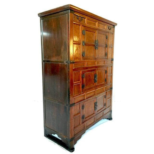 Amazing Antique 19th Century Korean | Chinese | Japanese Tansu Cabinet Iron Pulls and Hardware - Image 2 of 9