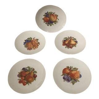 Gilded Porcelain Dessert Plates - Set of 5