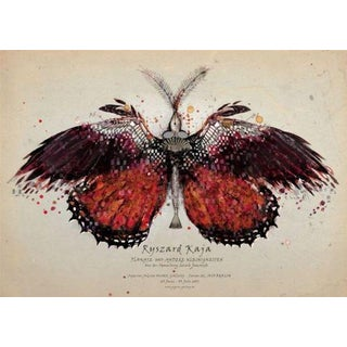 'Red Butterfly' Polish Poster