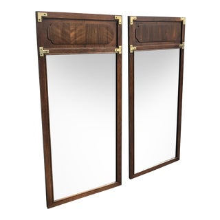 Vintage Lane Campaign Style Mirrors - a Pair