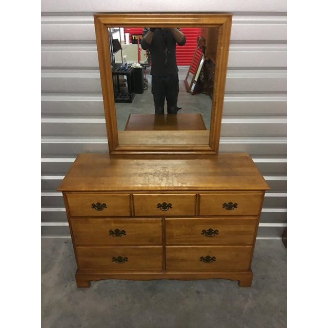 Solid Maple Dresser & Mirror - Image 2 of 6
