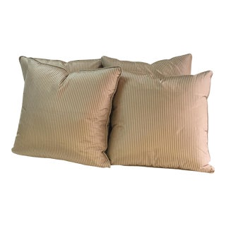 "Jim Thompson Silk Fabric Throw Pillows - 20"" x 20"" - Set of 4"