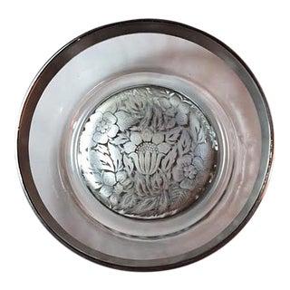 Vintage Briard Silver Damask Bowl