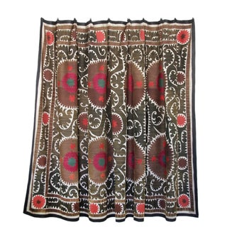 Ivory Multi-color Suzani Tapestry