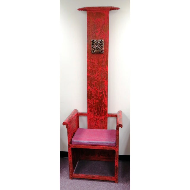 "Tall Asian Alter Chair 81""High - Image 2 of 6"