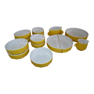 Vera Mikasa Yellow Crocus Bowl Set- 15 Pieces