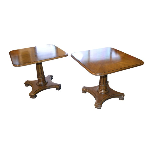 Image of Henredon Neoclassical Side Tables - Pair