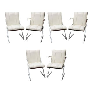Milo Baughman DIA Dining Chairs Set of Six, 1970s, USA