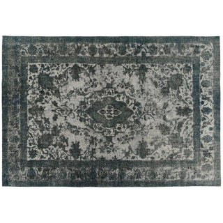 Distressed Grey Overdyed Rug - 7′11″ × 9′11