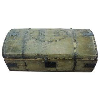 Antique Hide Travel Trunk Chest