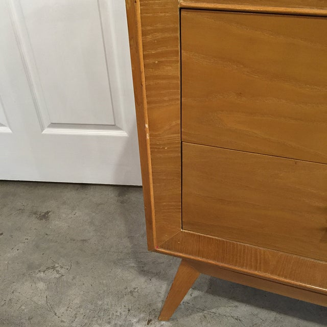 Mid-Century Modern Buffet With Brass Hardware - Image 7 of 9