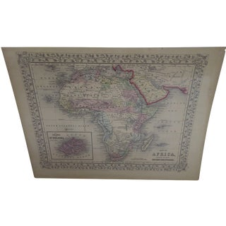 Vintage 1860 Original Map of Africa