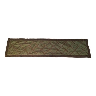Brown & Green Braided Silk Table Runner