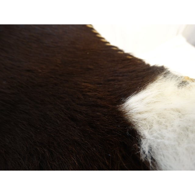Folding Cow Hide Stool - Image 2 of 4