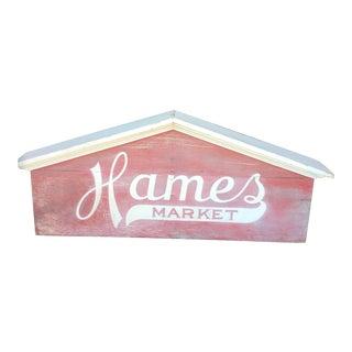 Hames Market Sign